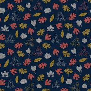 Blue_Leaves_Flowers_Stock