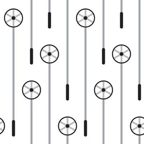 Retro Ski Poles (Monochrome)