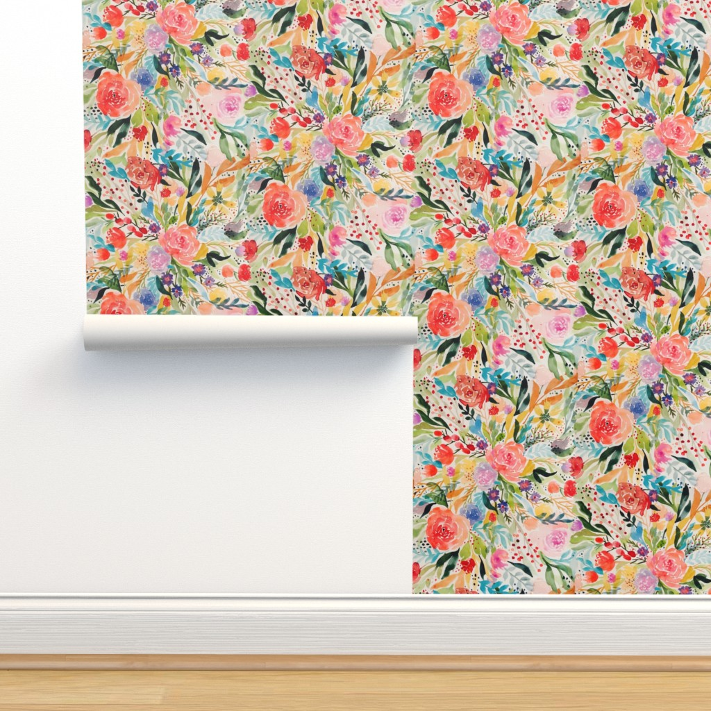 Isobar Durable Wallpaper featuring Flower Joy! by rhyan