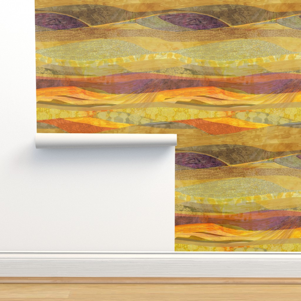 Isobar Durable Wallpaper featuring Southwest  Modern Phoenix  by wren_leyland