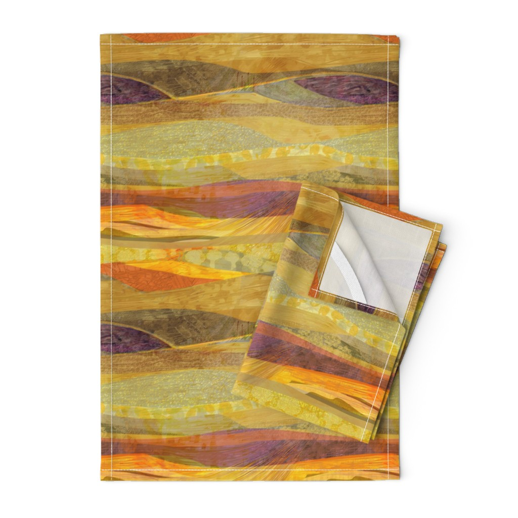 Orpington Tea Towels featuring Southwest  Modern Phoenix  by wren_leyland