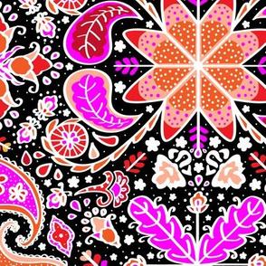 Pysanky Paisley Floral in Black