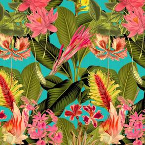 Palm In Palm ~ Floral Fantastico ~ Calypso  Linen Luxe  ~ Medium