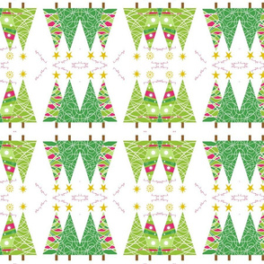 Christmas Trees wrapping fabric