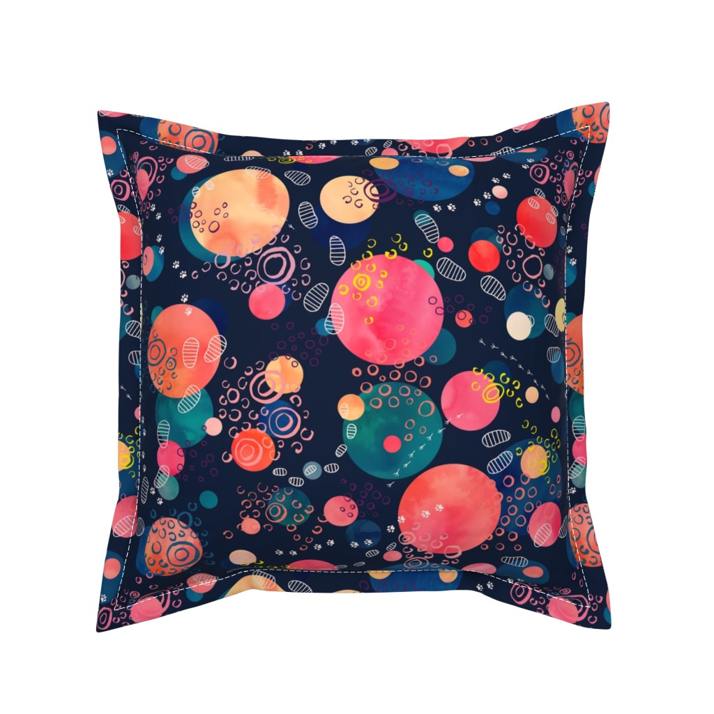 Serama Throw Pillow featuring Footprints on the Moon by marketa_stengl