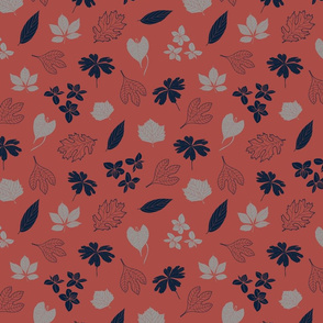 Red_Leaves_Flowers_Stock