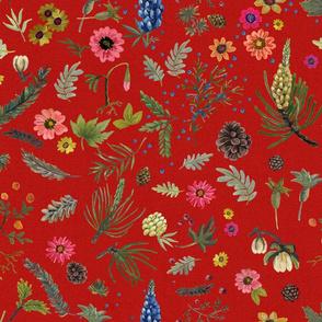 boho botanica - laquer red