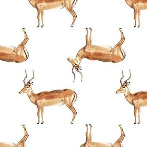 Antelope Watercolor Pattern