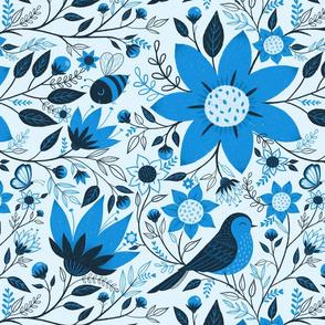 Birds + Bees Blue