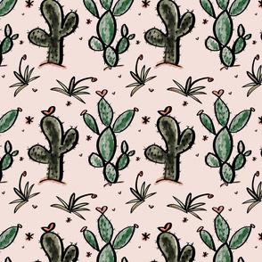 Cacti Love in Mauve