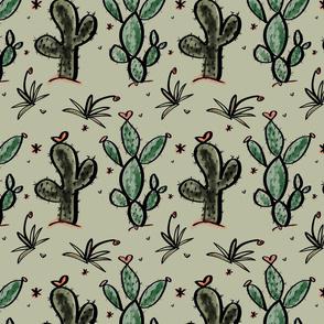 Cacti Love in Moss