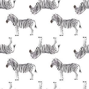 Zebra Watercolor Pattern