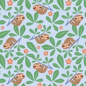 jungle sloths blue