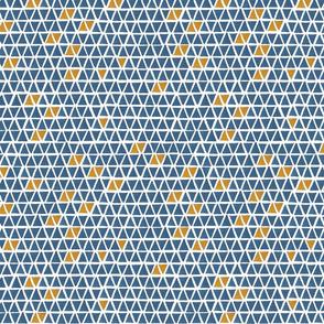 triangles blue saffron