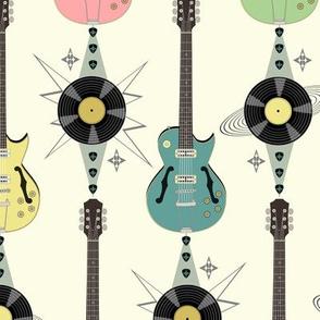 Retro Rockabilly Guitar Stripes