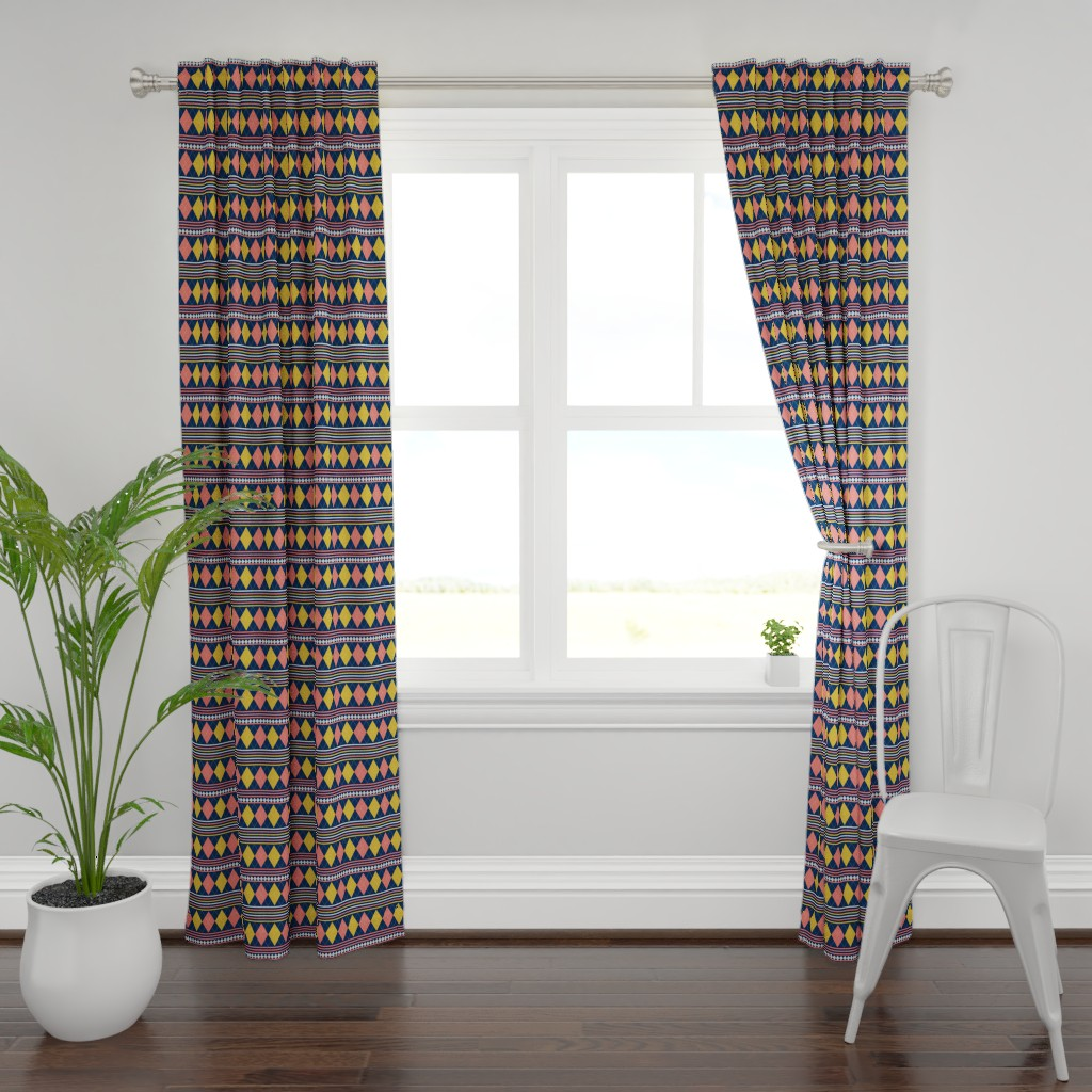 Plymouth Curtain Panel featuring Golf Anyone by applebutterpattycake