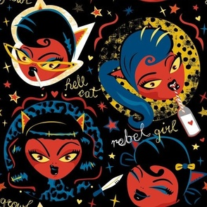 Rockabilly Rebel Girl by Mount Vic and Me