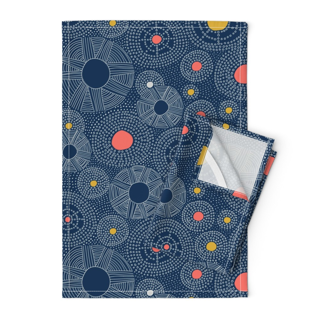 Orpington Tea Towels featuring Underwater Sky by organic_lines