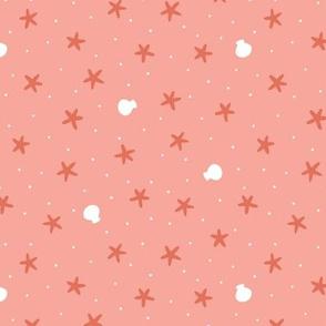 Seaside Starfish Confetti Pink