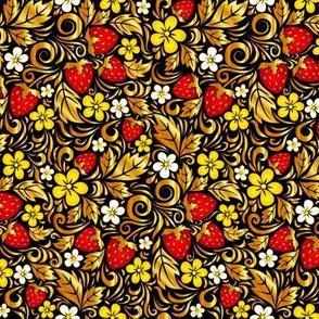 Golden Hohloma strawberry