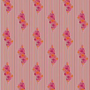 Squiggly Floral on Stripe