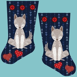 Mini wolf stocking