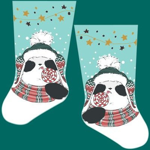 Mini panda stocking