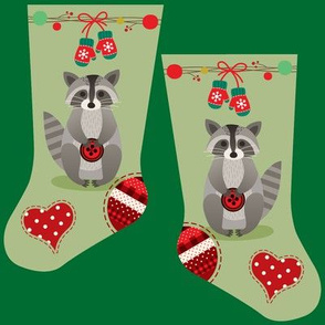 Mini raccoon stocking