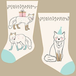 Mini white fox stocking