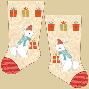 Mini bunny gift stocking