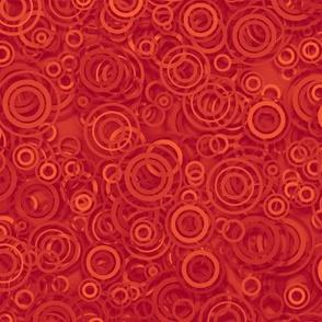 ruby red rain circles