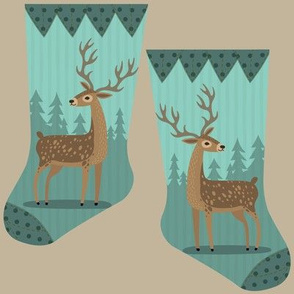 Mini forest deer stocking