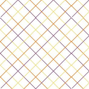 Halloween diagonal grid