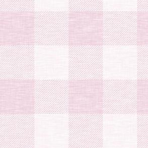 XL Buffalo check - pink - wallpaper