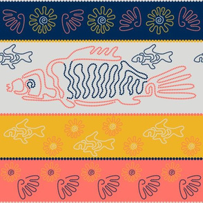 Australian Aboriginal Art Inspired. River life