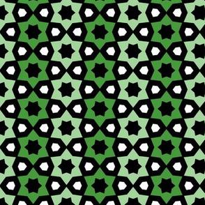 Green, Black & White Geometric Pattern