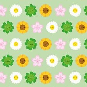 Kawaii Spring Flowers (Green)