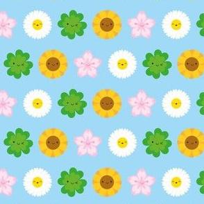 Kawaii Spring Flowers (Blue)
