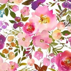 Pink Watercolor Spring Florals