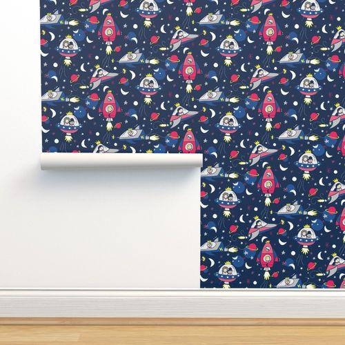 Rocket Ship On Wallpaper