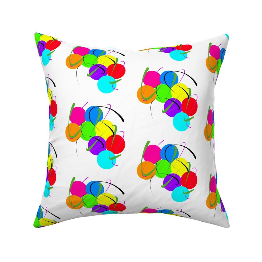 Catalan Throw Pillow featuring Party Fun - white by bravenewart