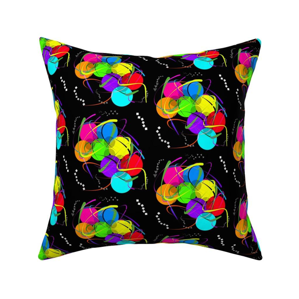 Catalan Throw Pillow featuring Party Fun - black by bravenewart