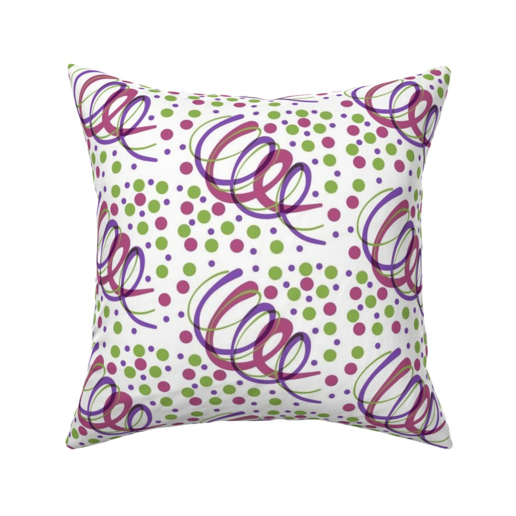 Catalan Throw Pillow featuring Swirls and Spots by bravenewart