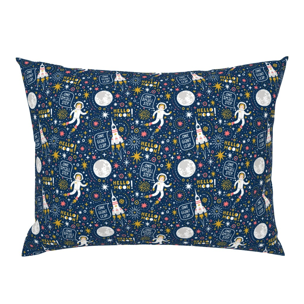 Campine Pillow Sham featuring One small step by magicforestory