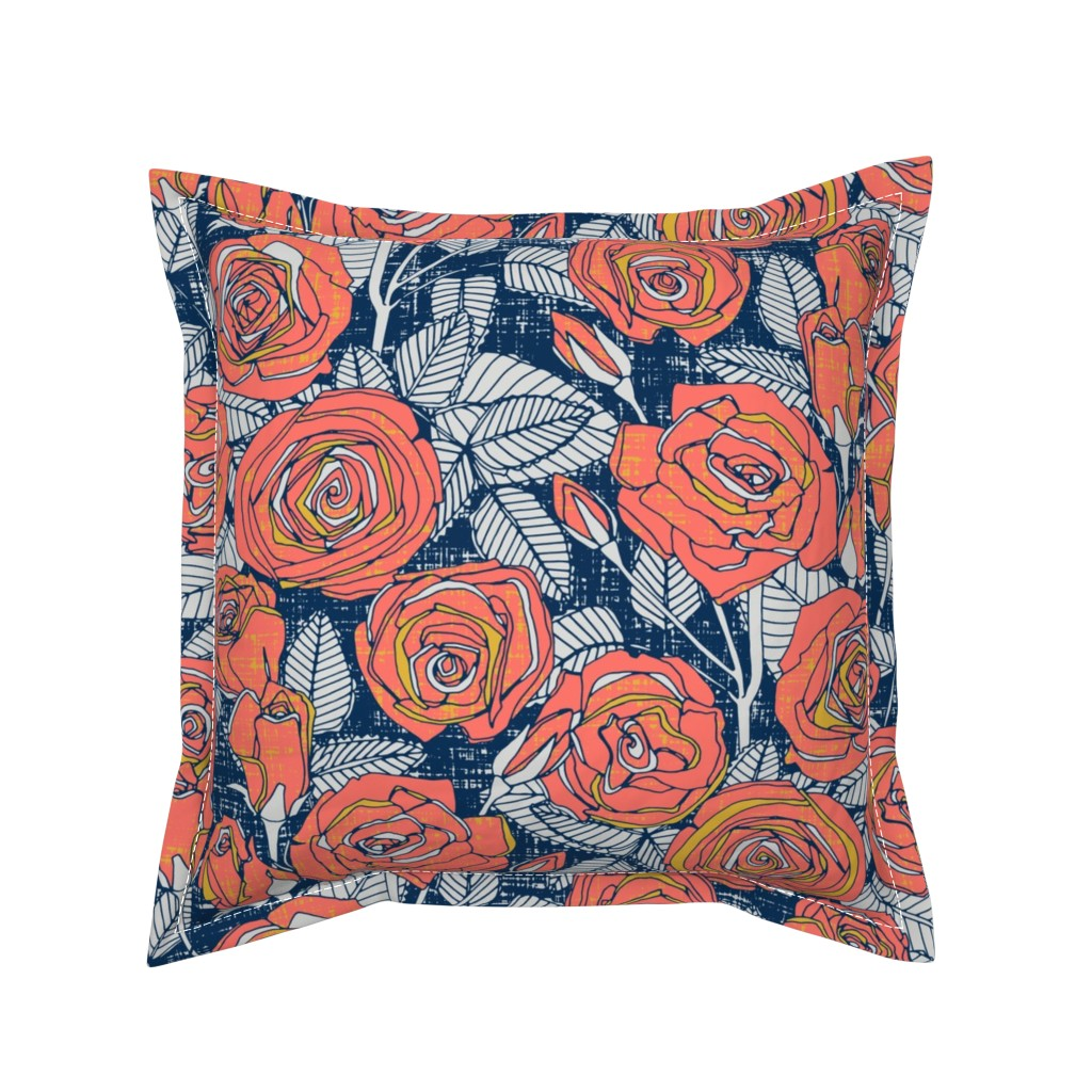 Serama Throw Pillow featuring ROSES LIMITED by scrummy