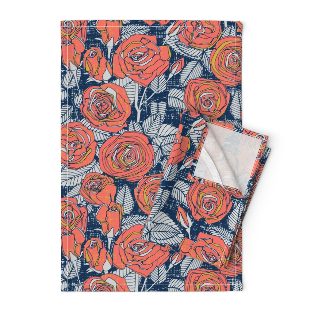 Orpington Tea Towels featuring ROSES LIMITED by scrummy