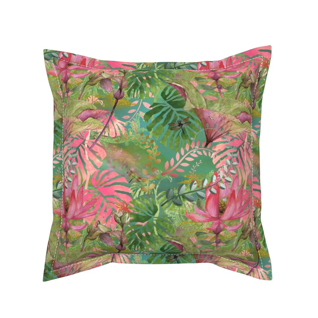 Serama Throw Pillow featuring Bohemian Paradise by floramoon