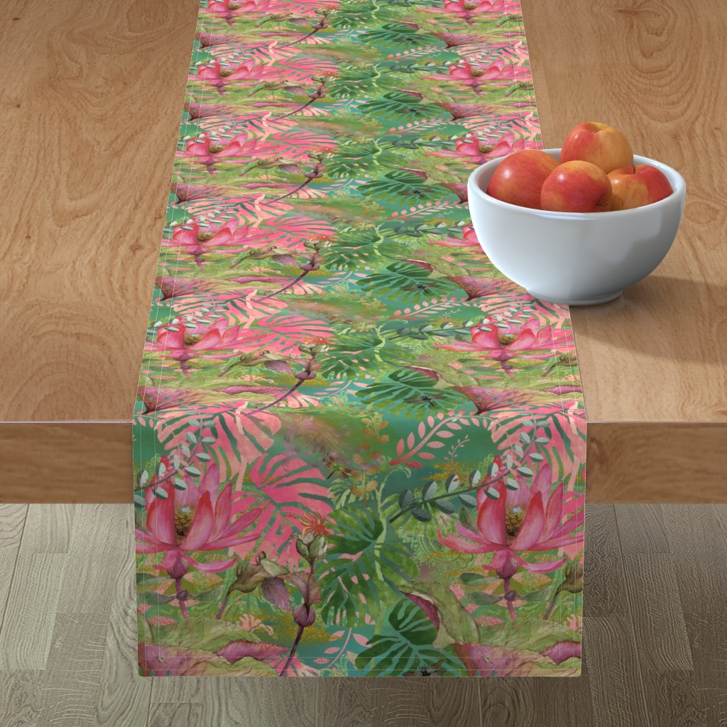Minorca Table Runner featuring Bohemian Paradise by floramoon
