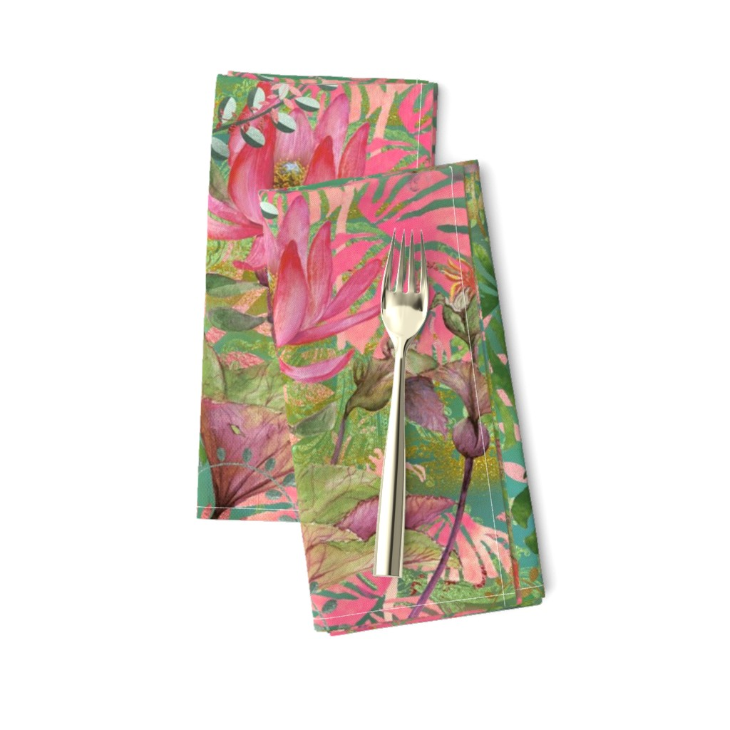 Amarela Dinner Napkins featuring Bohemian Paradise by floramoon