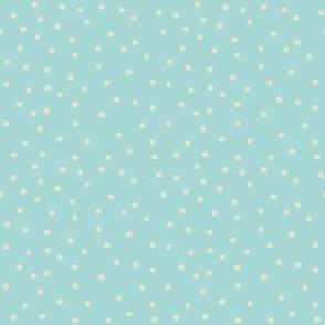summer rain combi - dots on baby blue